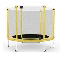 Батут Atleto 152 см з сіткою жовтий (5 ft)