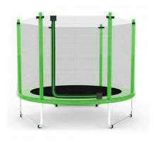Батут Atleto 152 см з сіткою зелений (5 ft)